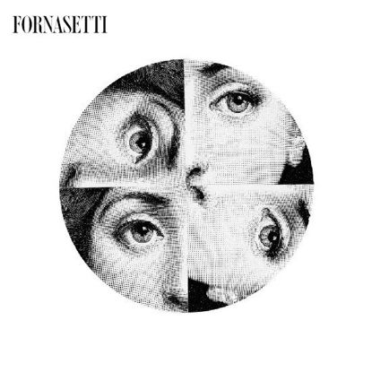 Picture of Fornasetti Porcelain Wall plate Tema e Variazioni n°244 black/white Fornasetti pour L'Eclaireur