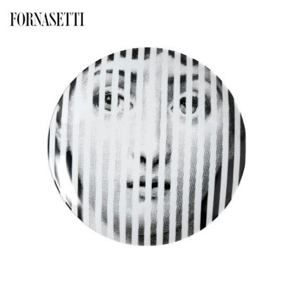 Picture of Fornasetti Porcelain Wall plate Tema e Variazioni n°34 black/white
