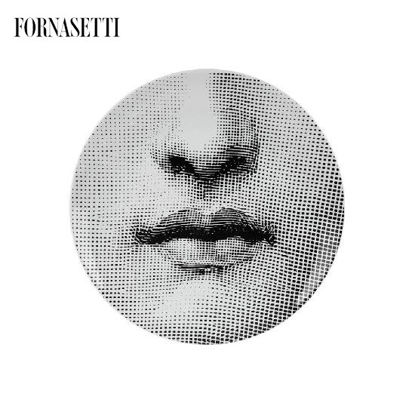 Picture of Fornasetti Porcelain Wall Plate Tema e Variazioni n°397 black/white