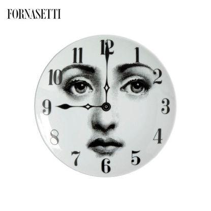 Picture of Fornasetti Porcelain Wall plate Tema e Variazioni n°74 black/white