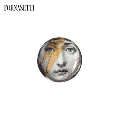 Picture of Fornasetti Round ashtray Tema e Variazioni n°375 black/white/gold