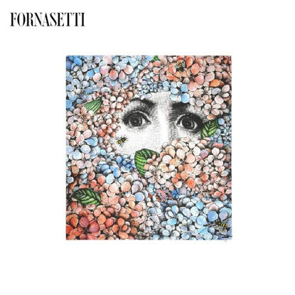 Picture of Fornasetti Scarf Ortensia composition 90% modal 10% cashmere