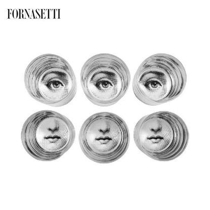 Picture of Fornasetti Set 6 glasses Occhio & Bocca