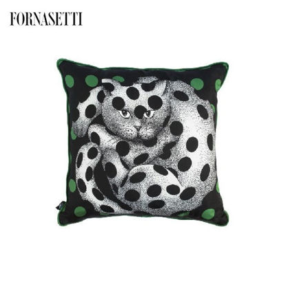 Picture of Fornasetti Silk cushion High Fidelity
