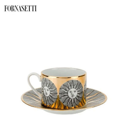 Picture of Fornasetti Tea cup Sole black/white/gold