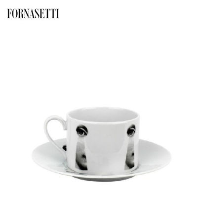 Picture of Fornasetti Tea cup Tema e Variazioni 2005 Serratura black/white