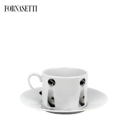 Picture of Fornasetti Tea cup Tema e Variazioni 2005 Serratura black/white