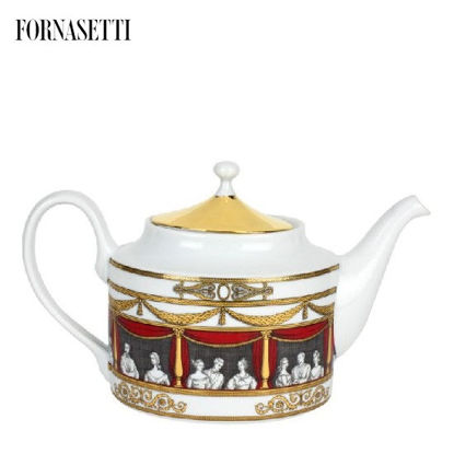 Picture of Fornasetti Teapot Don Giovanni colour