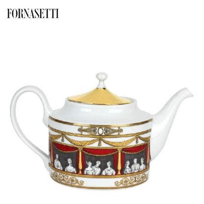 Picture of Fornasetti Teapot Don Giovanni colour