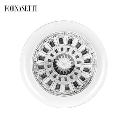 Picture of Fornasetti Tray ø40 Cortile black/white