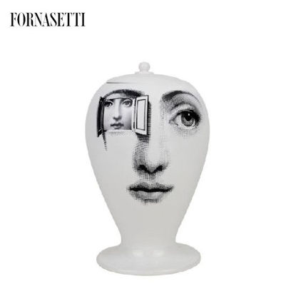Picture of Fornasetti Vase Alla Finestra black/white