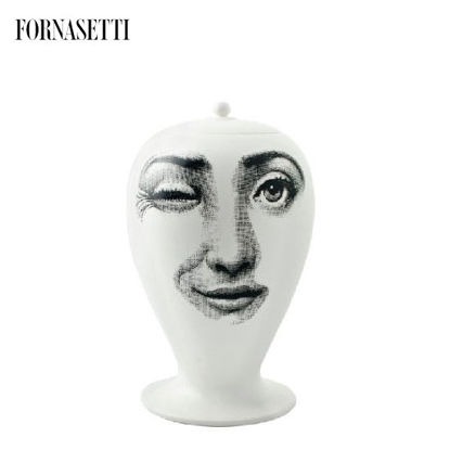 Picture of Fornasetti Vase Antipatico black/white matt