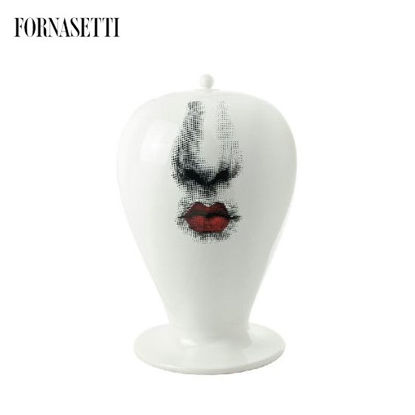 Picture of Fornasetti Vase Bacio maxi black/white/red