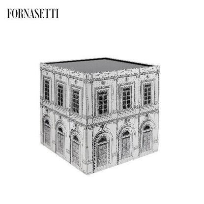 Picture of Fornasetti Cube with drawer Architettura black/white