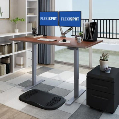 Picture of Flexispot Electric Height-Adjustable Standing Desk 2-Stage E1: Frame + Tabletop (1400x700mm)