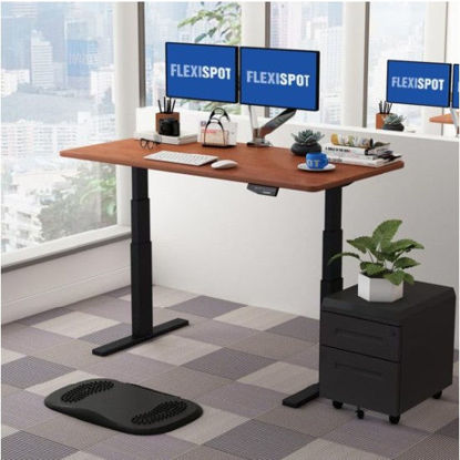 Picture of Flexispot Electric Height-Adjustable Standing Desk 3-Stage E3: Frame + Tabletop (1400x700mm)