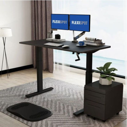 Picture of Flexispot Manual Height-Adjustable Desk 2-Stage H2: Frame Only - Black