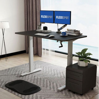 Picture of Flexispot Manual Height-Adjustable Desk 2-Stage H2: Frame Only - White