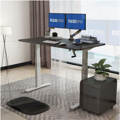 Picture of Flexispot Manual Height-Adjustable Standing Desk H2: Frame + Tabletop (1400x700mm)