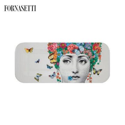 Picture of Fornasetti Tray 25x60 Fior di Lina colour