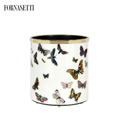 Picture of Fornasetti Paper basket Farfalle colour/white