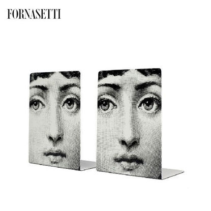 Picture of Fornasetti Bookends Viso black/white