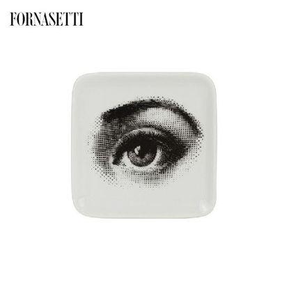 Picture of Fornasetti Square ashtray quadrato Occhio black/white