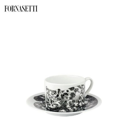 Picture of Fornasetti Tea cup High Fidelity Fiorato black/white