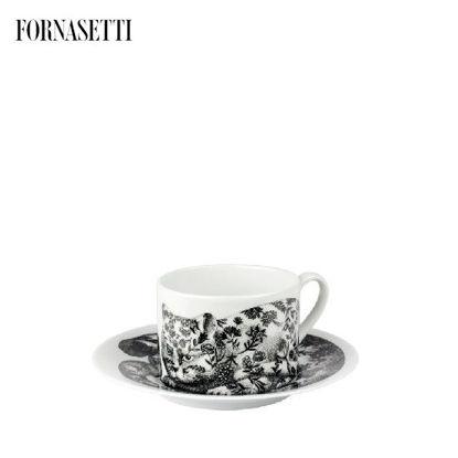 Picture of Fornasetti Tea cup High Fidelity Fiorato black/white