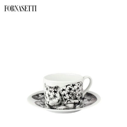 Picture of Fornasetti Tea cup High Fidelity Stellato black/white