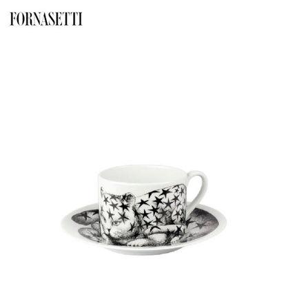 Picture of Fornasetti Tea cup High Fidelity Stellato black/white