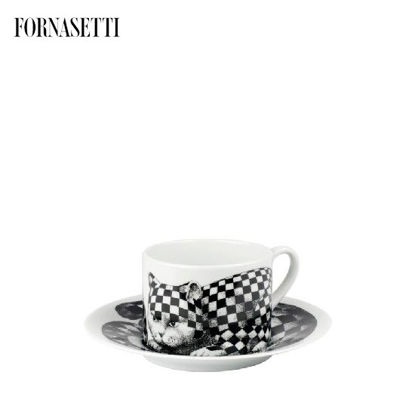 Picture of Fornasetti Tea cup High Fidelity Quadretato black/white