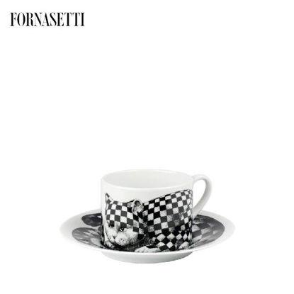 Picture of Fornasetti Tea cup High Fidelity Quadretato black/white