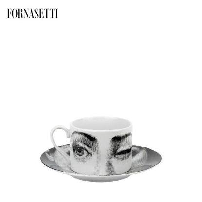 Picture of Fornasetti Tea cup Tema e Variazioni 2005 L'antipatico black/white