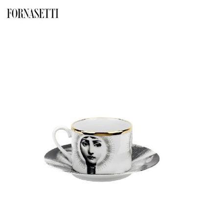Picture of Fornasetti Tea cup Tema e Variazioni 2005 Lampadina black/white/gold