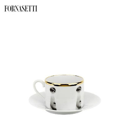 Picture of Fornasetti Tea cup Tema e Variazioni 2005 Serratura black/white/gold