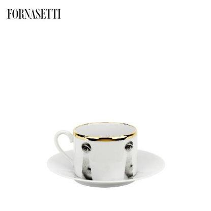 Picture of Fornasetti Tea cup Tema e Variazioni 2005 Serratura black/white/gold