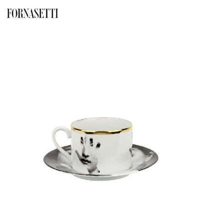 Picture of Fornasetti Tea cup Tema e Variazioni 2005 Mano black/white/gold