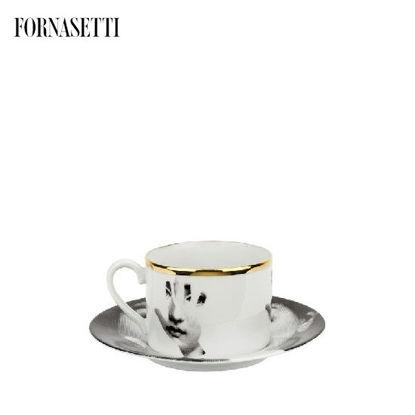 Picture of Fornasetti Tea cup Tema e Variazioni 2005 Mano black/white/gold