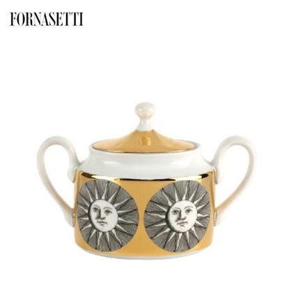 Picture of Fornasetti Sugar bowl Sole black/white/gold