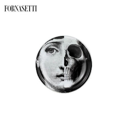 Picture of Fornasetti Round ashtray Tema e Variazioni n°288 black/white