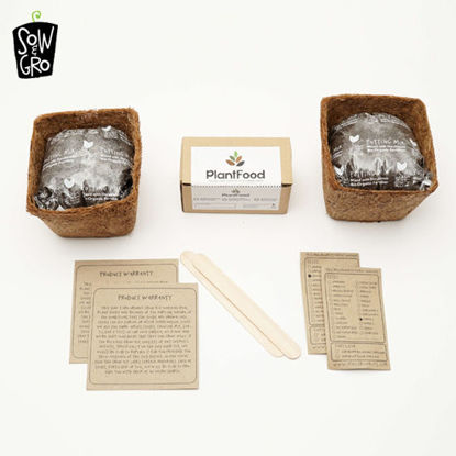 Picture of Sow & Grow Duos Kit - Marigold / Zinnia