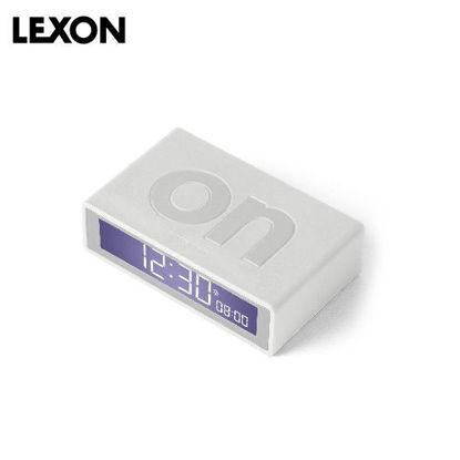 Picture of LEXON Flip+ Alarm Clock - Rubber White
