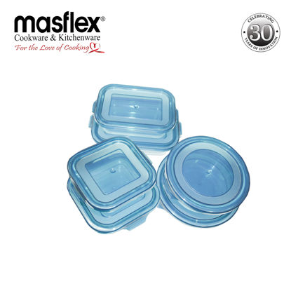 Picture of Masflex 6Pcs Glass Food Container Set