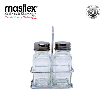 Picture of Masflex 4 Piece Spice Jar With Metal Stand