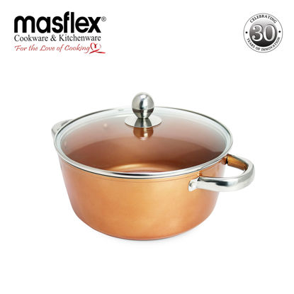 Picture of Masflex 24Cm Copper Forged Casserole W/ Lid