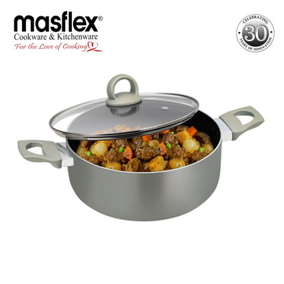 Picture of Masflex 22Cm Platinum Induction Casserole With Glass Lid