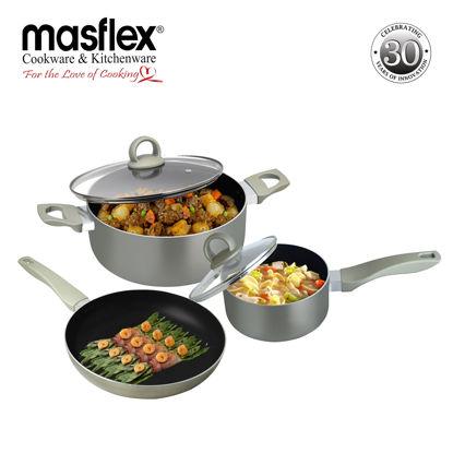 Picture of Masflex 5 Piece Platinum Induction Cookware Set