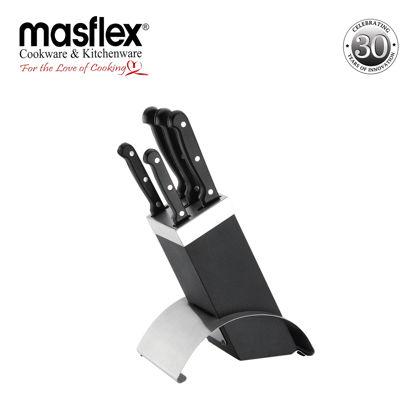 Picture of Masflex Masflex 6Pcs Knife Block Set