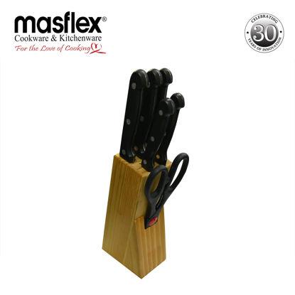 Picture of Masflex Masflex 7Pcs Knife Block Set